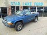 2004 Atlantic Blue Pearl Dodge Dakota SLT Regular Cab 4x4 #77167469