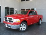 2009 Flame Red Dodge Ram 1500 SLT Crew Cab #7692145