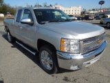 2013 Silver Ice Metallic Chevrolet Silverado 1500 LT Extended Cab 4x4 #77219265