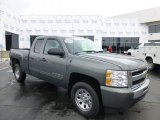 2011 Steel Green Metallic Chevrolet Silverado 1500 LS Extended Cab 4x4 #77167066