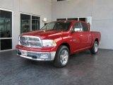 2009 Inferno Red Crystal Pearl Dodge Ram 1500 Laramie Crew Cab #7692083