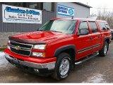 2006 Victory Red Chevrolet Silverado 1500 Z71 Crew Cab 4x4 #77270515
