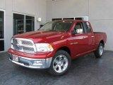 2009 Inferno Red Crystal Pearl Dodge Ram 1500 Laramie Quad Cab #7692139