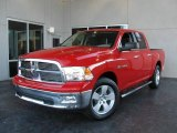 2009 Flame Red Dodge Ram 1500 Big Horn Edition Crew Cab #7692052