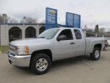 2013 Silver Ice Metallic Chevrolet Silverado 1500 LT Extended Cab 4x4 #77270353