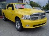 2009 Detonator Yellow Dodge Ram 1500 Sport Crew Cab 4x4 #7702911