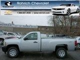 2013 Silver Ice Metallic Chevrolet Silverado 1500 Work Truck Regular Cab 4x4 #77270923