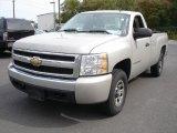 2008 Silver Birch Metallic Chevrolet Silverado 1500 LS Regular Cab 4x4 #77270089