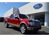 2013 Ruby Red Metallic Ford F150 Lariat SuperCrew 4x4 #77270442