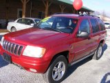 2002 Inferno Red Tinted Pearlcoat Jeep Grand Cherokee Overland 4x4 #77332354