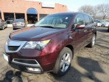 2011 Dark Cherry Pearl Acura MDX Technology #77332306