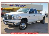 2008 Bright White Dodge Ram 3500 Lone Star Quad Cab 4x4 Dually #77332201