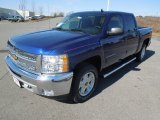 2013 Blue Topaz Metallic Chevrolet Silverado 1500 LT Crew Cab 4x4 #77361734