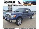 2011 Dark Blue Pearl Metallic Ford F150 Lariat SuperCrew 4x4 #77361516
