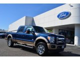 2013 Blue Jeans Metallic Ford F250 Super Duty King Ranch Crew Cab 4x4 #77361505