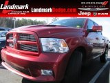 2010 Inferno Red Crystal Pearl Dodge Ram 1500 Sport Crew Cab #77361502
