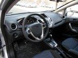 2013 Ford Fiesta SE Sedan Charcoal Black/Blue Accent Interior