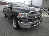 2009 Brilliant Black Crystal Pearl Dodge Ram 1500 Laramie Quad Cab 4x4 #77399274