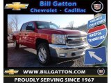 2013 Victory Red Chevrolet Silverado 1500 LT Crew Cab 4x4 #77399186