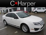 2010 White Suede Ford Fusion S #77398548