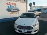 2013 White Platinum Metallic Tri-coat Ford Fusion SE 1.6 EcoBoost #77398644