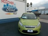 2013 Lime Squeeze Ford Fiesta SE Sedan #77398642