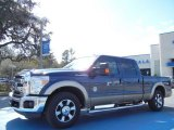 2013 Blue Jeans Metallic Ford F250 Super Duty Lariat Crew Cab #77454026