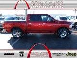 2009 Inferno Red Crystal Pearl Dodge Ram 1500 Laramie Crew Cab #77453979