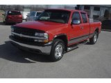 2000 Victory Red Chevrolet Silverado 1500 LS Extended Cab 4x4 #77474642