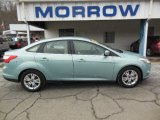 2012 Frosted Glass Metallic Ford Focus SEL Sedan #77474015