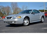 2000 Silver Metallic Ford Mustang V6 Coupe #77474612