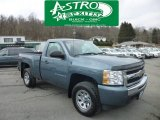 2009 Blue Granite Metallic Chevrolet Silverado 1500 LS Regular Cab 4x4 #77474738