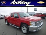 2013 Victory Red Chevrolet Silverado 1500 LT Extended Cab 4x4 #77474857
