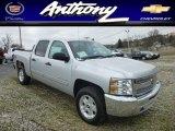 2013 Silver Ice Metallic Chevrolet Silverado 1500 LT Crew Cab 4x4 #77474854