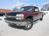 2000 Dark Carmine Red Metallic Chevrolet Silverado 1500 LS Extended Cab 4x4 #77474241