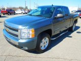 2010 Blue Granite Metallic Chevrolet Silverado 1500 LT Extended Cab 4x4 #77474668