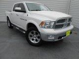 2011 Bright White Dodge Ram 1500 Laramie Crew Cab 4x4 #77555698
