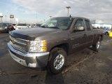 2013 Mocha Steel Metallic Chevrolet Silverado 1500 LT Extended Cab 4x4 #77555810