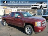 2013 Deep Ruby Metallic Chevrolet Silverado 1500 LT Extended Cab 4x4 #77556110