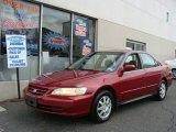 2002 Firepepper Red Pearl Honda Accord SE Sedan #77556100