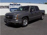 2006 Graystone Metallic Chevrolet Silverado 1500 LT Crew Cab #7740094