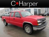 2007 Victory Red Chevrolet Silverado 1500 Classic LS Extended Cab 4x4 #77555349