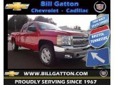 2013 Victory Red Chevrolet Silverado 1500 LT Extended Cab 4x4 #77556080