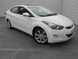 2013 Shimmering White Hyundai Elantra Limited #77555676