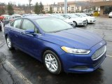2013 Deep Impact Blue Metallic Ford Fusion SE #77611222