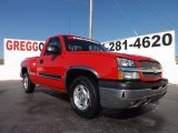 2004 Victory Red Chevrolet Silverado 1500 LS Regular Cab #77611306