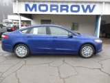 2013 Deep Impact Blue Metallic Ford Fusion SE 1.6 EcoBoost #77611208