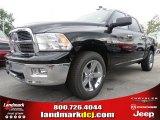 2012 Black Dodge Ram 1500 Big Horn Crew Cab 4x4 #77611236