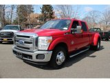 2012 Vermillion Red Ford F350 Super Duty XLT Crew Cab 4x4 Dually #77635447