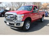 2012 Vermillion Red Ford F250 Super Duty XLT Regular Cab 4x4 #77635441